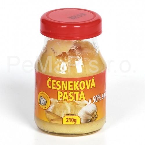 Česneková pasta v 50% soli 210g