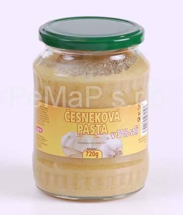 Česneková pasta v 50% soli 720g