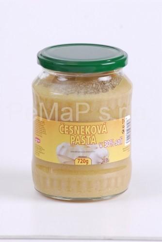 Česneková pasta v 30% soli 720g
