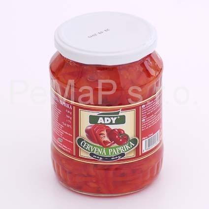 Paprika červená - řezy 720ml